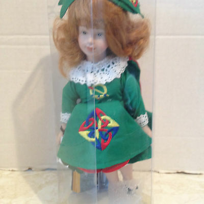"""Vintage Collector's Doll Gifts from Ireland Irish Clothes 12"""" Porcelain"""