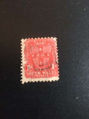 NEW SOUTH WALES;  1897 early classic QV issue used 1d. value