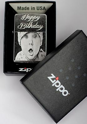 Personalised Zippo' Photo Engraved, Windproof, genuine Zippo No.205 or No.1605