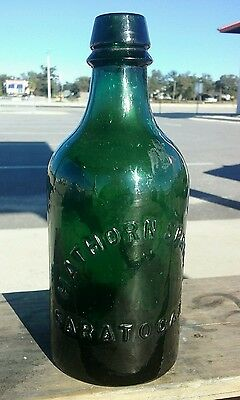 Old Saratoga,NY bottle / Hathorn Springs antique water bottle