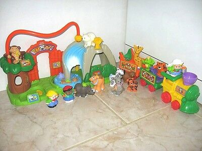 Little People Fisher Price Zoo Sonore Et Train Sonore Animaux
