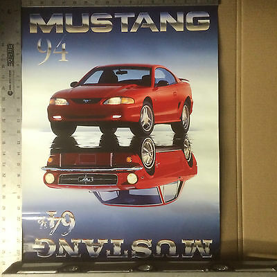 """Mustang Poster 1964 1/2 - 1994 30th Anniversary 24"""" x 18"""""""