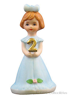 Vintage Enesco Growing Up Series Birthday Girls 2 Year Figurine Doll
