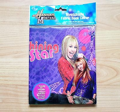 NEW Hannah Montana Stretchable Fabric Book Cover -  Fits most textbooks