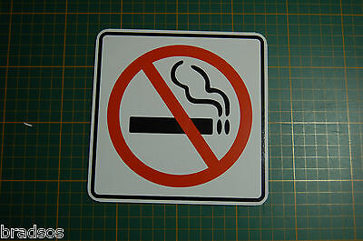 NO SMOKING SIGN vinyl sticker 2 sizes  3x3  6x6  Decal PVC safety home business
