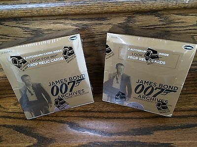 TWO 2014 Rittenhouse James Bond Archives Factory Sealed HOBBY Trading Card Boxes