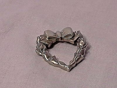 Longaberger 1998 Pewter Heart Tie-on Pin - New in Package!