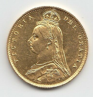 Very Rare 1887 Queen Victoria Proof Gold Half Sovereign