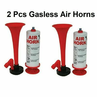 2 x Air Horn Gas Can Loud Hand Held Football Sport Event RED BLUE Top Choice