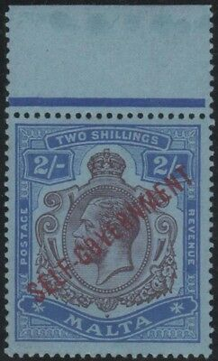 MALTA KGV 1922 Issue 2/- Keyplate Scott 82  SG111  Never Hinged Margin Copy