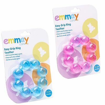 Emmay Care Baby Teething Ring Easy Grip Teether Soothes Babys Gums Play Toy