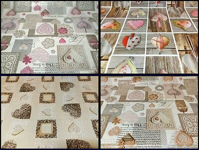 PVC Wipe Clean Tablecloth Oilcloth Vinyl PVC All Designs & Colours+FREE POSTAGE