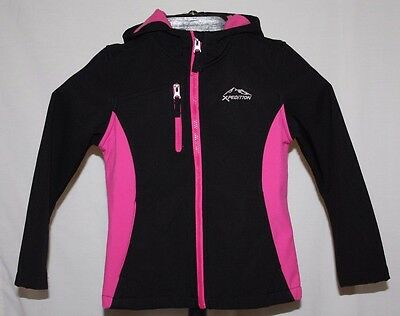 Mountain Xpedition Black & Pink Full Zip Hooded Jacket Size S 6-6X Ships FREE!