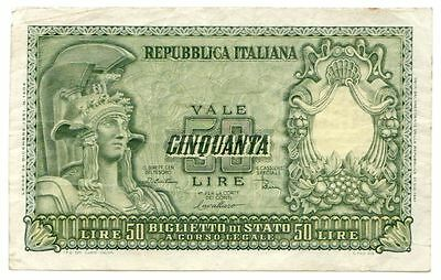 Italy P#91b 1951 50 Lire World Bank Note [1293.18]