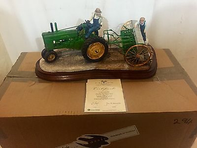 "Border Fine Arts ""sowing The Good Seed (John Deere Tractor) B0917 Ltd Ed 295/950"
