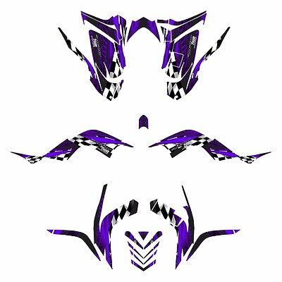 2006 - 2012 Raptor 700 graphics full coverage Yamaha decal kit #3500 Purple