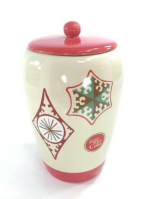 Coca-Cola™ THINGS GO BETTER WITH COKE Christmas Winter Ceramic Cookie Jar  4203