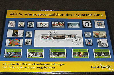 Germany - 2003  Deutsche Post Pack For All Issues For Jan-Mar - Sealed In Pack