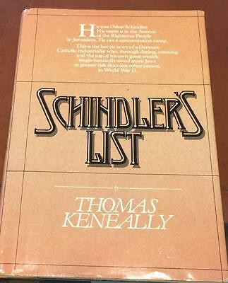 AUTOGRAPHED  KENEALLY, THOMAS SCHINDLER'S LIST   1st/1st  STORE LIQUIDATION