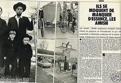 Coupure de Presse Clipping 1973 (5 pages) Les Amish
