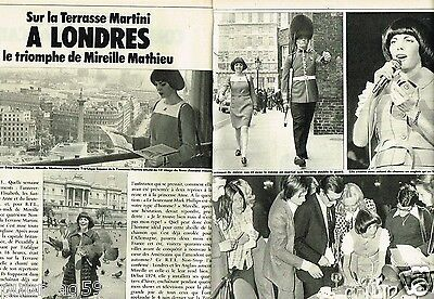 Coupure de Presse Clipping 1973 (2 pages) Mireille Mathieu à Londres
