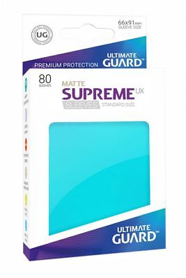 Ultimate Guard Supreme UX Sleeves Standard Matte Aquamarine 80 Kartenhüllen