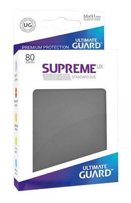 Ultimate Guard - Supreme UX Sleeves Standard Dark Grey 80 Stück Kartenhüllen
