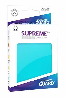 Ultimate Guard - Supreme UX Sleeves Standard Aquamarine 80 Stück Kartenhüllen