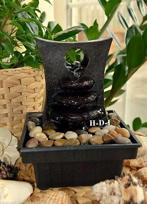 New Home Decor Relaxing Zen Water Fountain Genuine River Stones Included