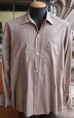 Vintage 1960s Men's Arrow Shirt with Embroidered Pocket Size L 16-16.5