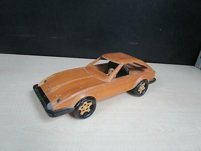 RARE Handcrafted Wood Wooden Country Crafter Sports Car Automobile