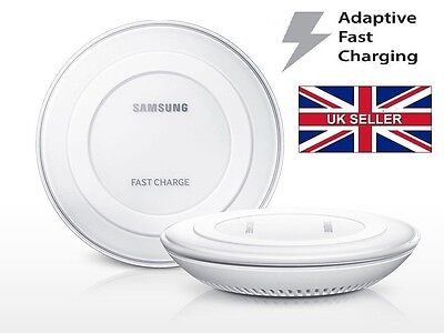 New Samsung Galaxy S6/S7 Edge, Edge+, Note 5 Fast Wireless Charger Pad in White