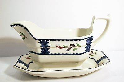 Adams LANCASTER Gravy Boat with under-plate Retired Made in England