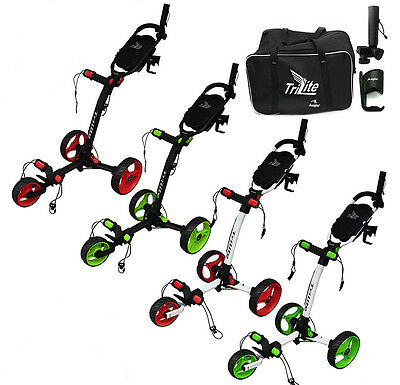 Axglo 2017 Trilite 3 Wheel Push/Pull Golf Trolley All Colours+Free £40 Gift Pack