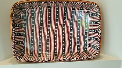Longaberger 1997 Hostess Serving Tray Basket with Protector & Liner