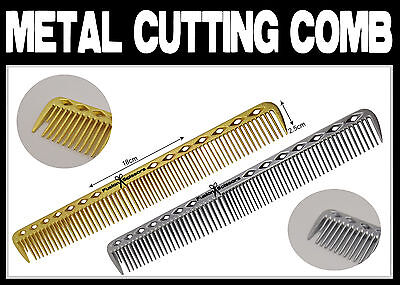 Professional Barber Metal Aluminium Cutting Comb  * * * UK SELLER * * *