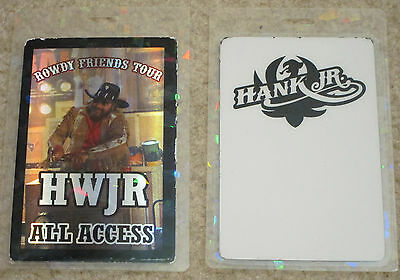 Hank Williams Jr. All Access Rowdy Friends Tour Laminate.