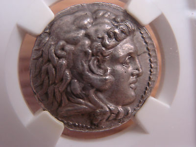 Alexander III The Great 336-323 BC AR Tetradrachm NGC CH AU* 5 STRIKE FINE STYLE
