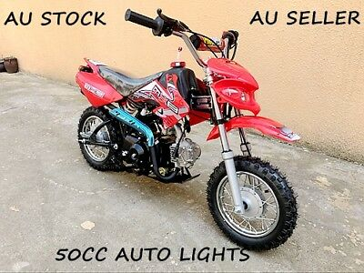 50Cc Motor Pit Dirt Bike Motocross Trail Terrain Motorbike Kids Auto Red