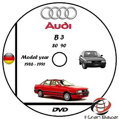 Manuale Officina Audi 80 & 90 B3 My 1986 - 1991 Wokrshop Manual Service Dvd