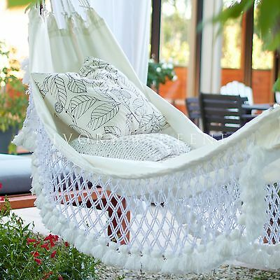 Deluxe HAMMOCK French Provincial Cream with Tassels Relax in Luxury & Comfort