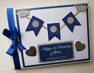 Personalised Prince/boys /first/1St Birthday Guest Book - Any Design