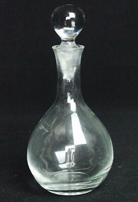 """7 1/2"""" Tall Crystal Glass Vanity Perfume Cologne Bottles Miniature Decanter"""