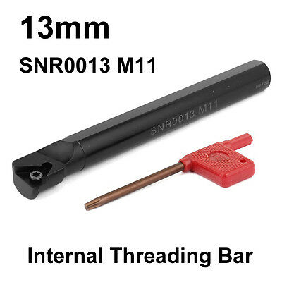 Carbide Indexable Tip CNC Internal Threading Lathe Tool Holder SNR 13mm Bar M11