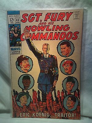 Sgt. Fury and his Howling Commandos Nick Marvel Comics issues 65 67 69