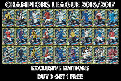 Exclusive Edition Champions League Match Attax 2017 16/17  #s1 - S27