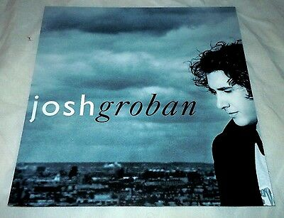 JOSH GROBAN~Closer~1ft by 1ft Promo Poster Flat~NM Condition~2003