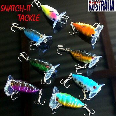 8x Cicada Fishing Lure Topwater Popper Surface Freshwater Bream Bass Cod Tackle