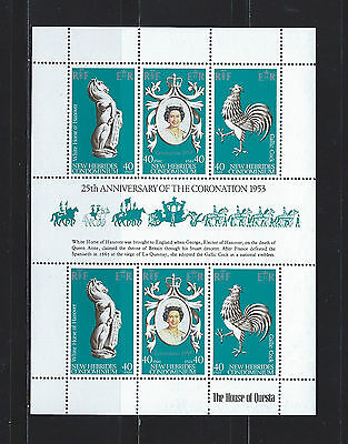 New Hebrides 1978 25th Anniv. of Queen Elizabeth II sheet MNH SC#258
