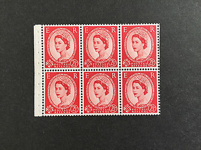ASstanps 1955 Great Britain Queen Elizabeth II 2 1/2p Booklet of 6 SC#321a
